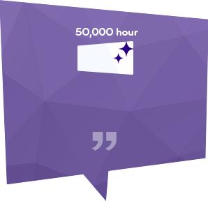 LG 디지털 사이니지는 하루 24시간, 5만시간 이상의 긴 수명을 보장한다.