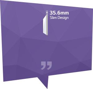 35.6mm 슬림 디자인으로 장소에 구애받지 않고 효율적인 설치가 가능해요