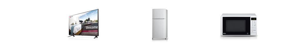 LG 커머셜 TV 32LX530H, LG 싱싱냉장고 R-B241QV, LG 전자레인지 MW203LW