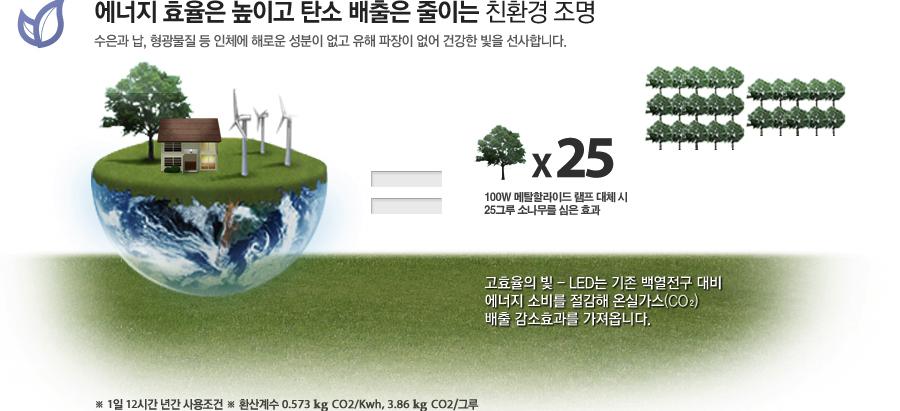 에너지 효율은 높이고 탄소 배출은 줄이는 친환경 조명