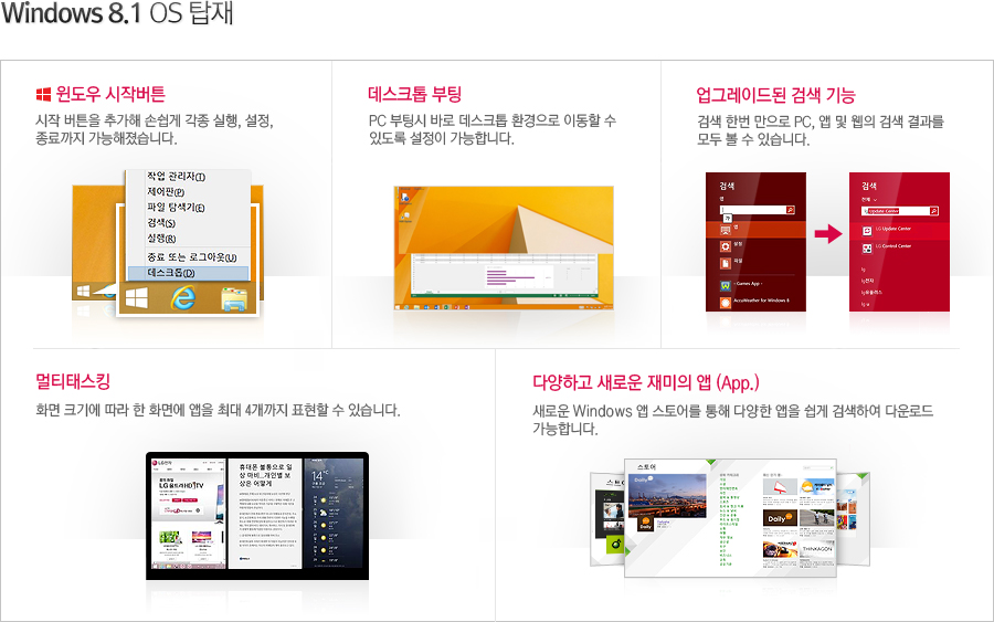 Windows 8.1 OS 탑재