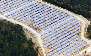 임야에 설치한 태양광발전소