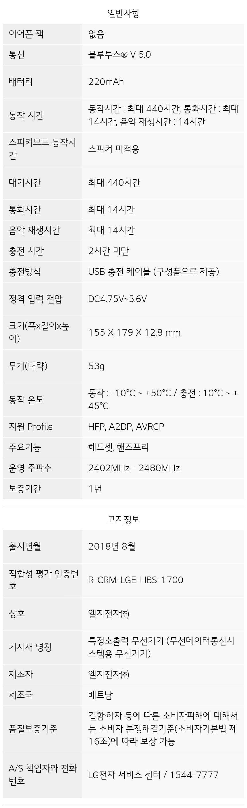 HBS-1500 제품 사양