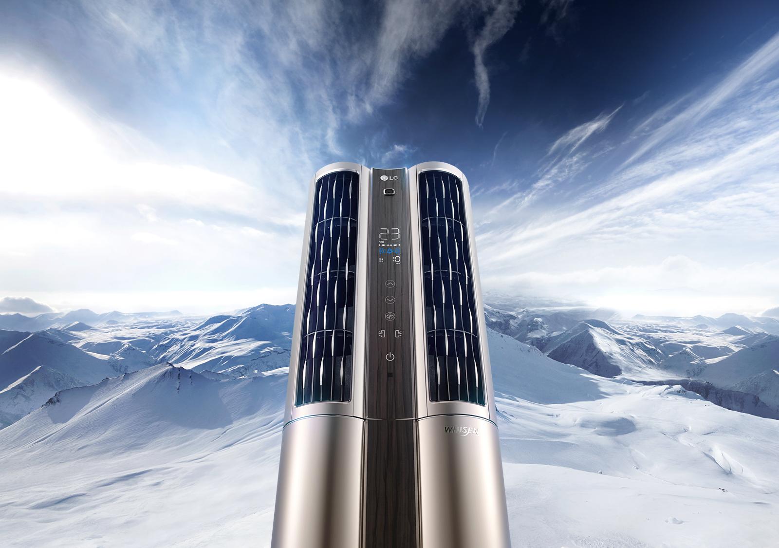 스마트 듀얼 냉방 시스템 에어컨 이미지