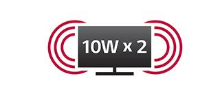 10W x 2 스피커 썸네일 이미지