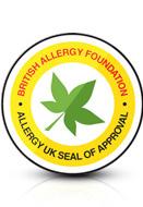 영국 알레르기 협회 공인인증 이미지